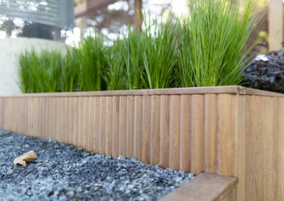 Porta Cumaru decking, posts and beams and Porta DeckWise in the Welcome Garden at the Melbourne International Flower Garden Show 2019